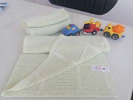 Одеяло плед пеленка шаль Mothercare 65×90 см 100% хлопок на выписку