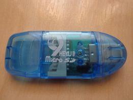 Картридер Card Reader USB - SD (MicroSD) новый