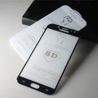 Защитное стекло полный клей на Samsung S7/S8/S9+ A3/5/6/8/8+/J3/4/5/7