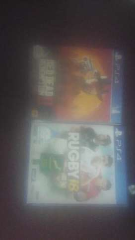Ps4  read dead redemption  2 +  rubgy 15   get both  R949