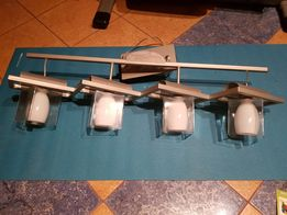 Lampa sufitowa 4 klosze szkło