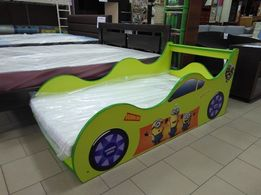 Кровать машинка с матрасом.Рассрочка.Бесплатная доставка по Украине