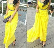 Вечернее платье, свадьба или выпускной. Ярко желтое, тренд сезона.