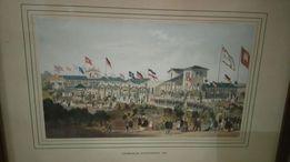 Piękna widokówka Hamburger schutzenhof 1862 oprawiona w ramkę