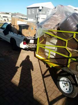 Bakkie with a trailer for hire
