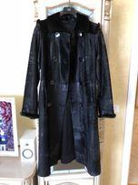 Супер стильное итальянское пальто из меха пони и норки Vinicio Pajaro