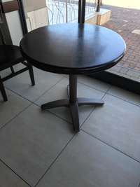 Image of round wooden table