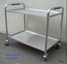 tea trolley stainless steel