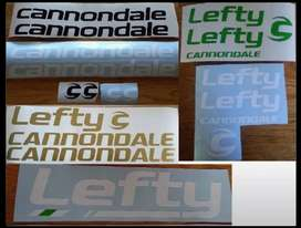 Cannondale bicycle frame and rim stickers decals graphics kits