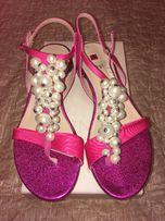 """Жіночі босоніжки з перлинами """"Hogl"""""""