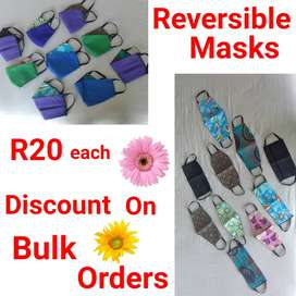 REVERSIBLE MASKS AND MENS COTTON VESTS FOR SALE