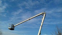 Usługi podnośnikiem koszowym,zwyżka. Wysokość robocza 19 metrów. Tanio