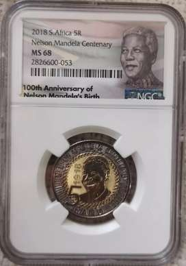 2018 Nelson Mandela NGC Graded R5 MS68