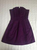 Sukienka Reserved 34 XS fioletowa śliwka węgierka
