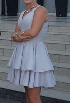 Lou szara srebrna sukienka L