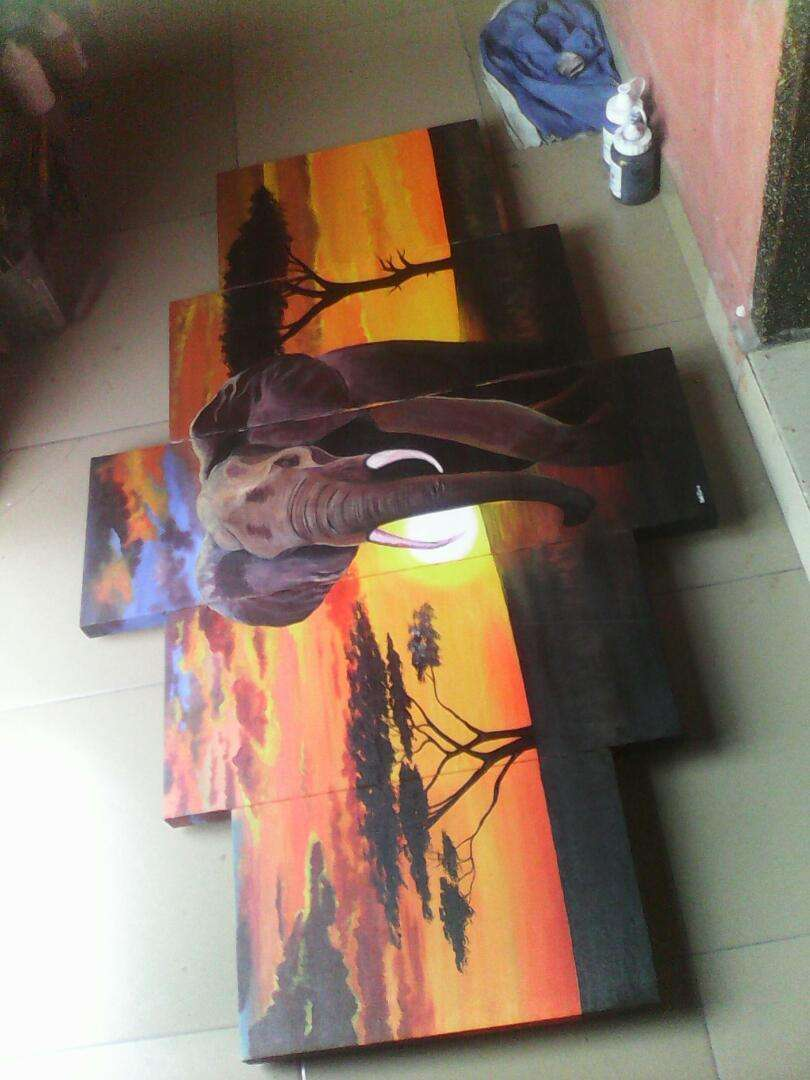 Pure Hand painted sunset artworks a 0