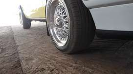 I'm selling BBS mag rim 15inch with tyres front 95% Rear 50% threads