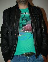 Мужская кожанная куртка AngelDevil