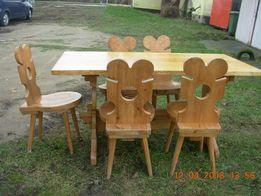 oryginalny stół drewniany stylowy