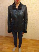 Осенне-зимняя кожаная куртка