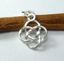 srebrny charms plecionka wieczności celtycka do bazy