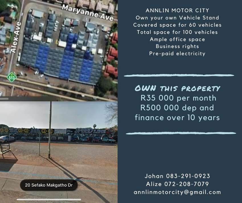 Motor Vehicle Stand with Zoning Cetificate Sefako Makgatho Drive Pta 0