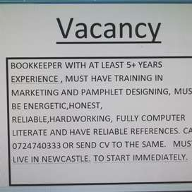 Looking for Bookeeper in NEWCASTLE