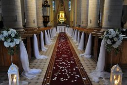 Dekoracja kościoła, dekoracja kościoła na ślub