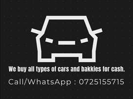 Buying all types of cars and bakkies for cash