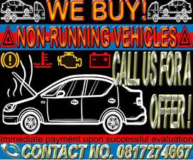 We Buy Running and non running cars!!!