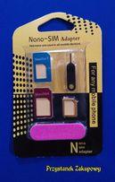 Adapter przejściówka do kart SIM MICRO NANO zestaw iphone telefon