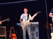 Gitara basowa Mark Pro,kolor amerykańska flaga,4 strunowa
