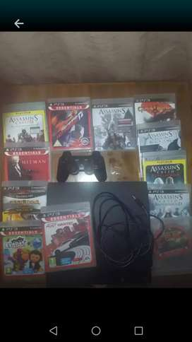 Playstation Ps3 with 12 games and one control