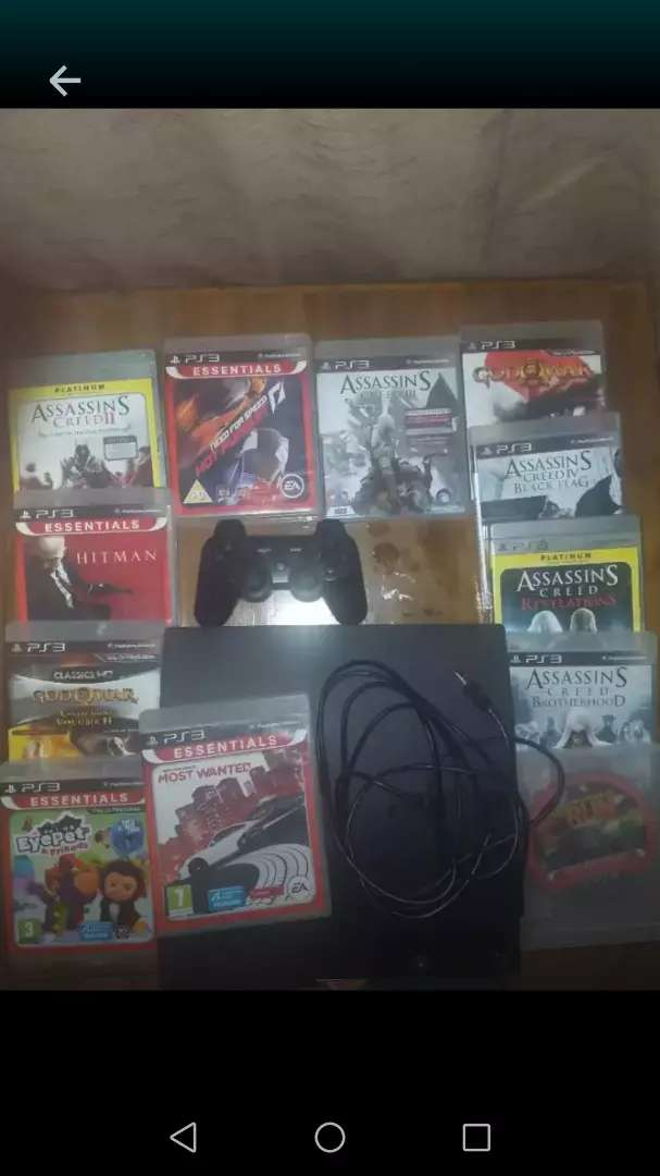 Playstation Ps3 with 12 games and one control 0