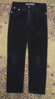 Зимние вельветовые брюки на флисе