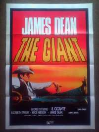 Rare, original James Dean GIANT collectable vintage movie poster, used for sale  South Africa