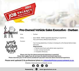 Pre-Owned Vehicle Sales Executive - Durban