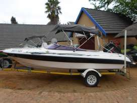 Sunsport 17 with 125hp Mercury outboard motor