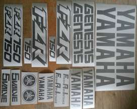 FZR 750 decals stickers vinyl cut graphics