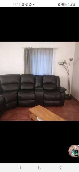 Genuine leather couches.
