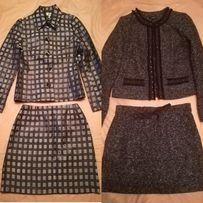 Костюм жакет, юбка на подкладке, S-M, O'stin, Франция