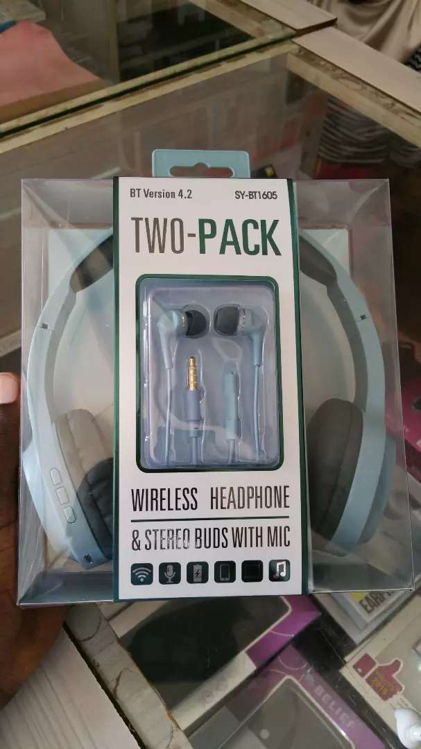 SY-BT1605 Bluetooth Headphones (Two in one) 0