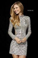 Платье от Sherri Hill серебро
