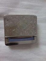 Papierośnica z palmą metalowa