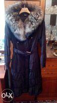 Продам зимнее пальто с красивой чернобуркой.