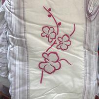 Meblik orchidea pink różowa by Amy ochraniacz do łóżeczka baldachim