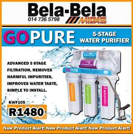 Go Pure 5-Stage Water Purifier ONLY R1480 at Midas Bela Bela!