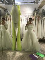 Свадебное платье длинный рукав осень/зима