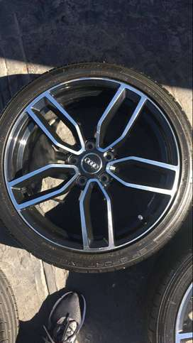 """18""""inch Audi Mag Rims fitted with brand new quality tyres."""