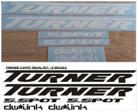 Turner 5.Spot frame decals stickers graphics kits